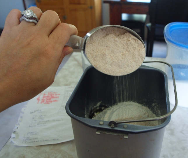 Add up to one cup of Whole Wheat Flour to Pizza Dough
