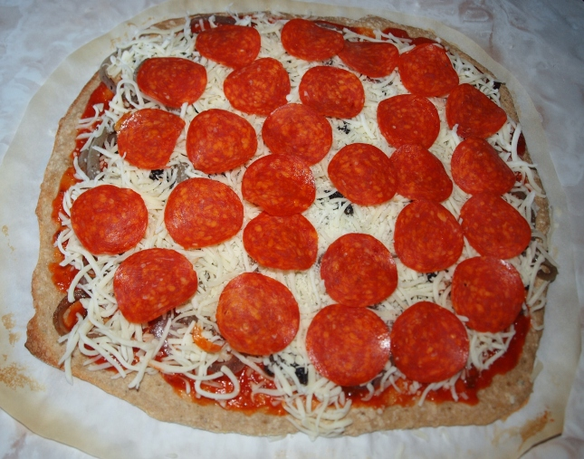 Add Homemade Pizza Toppings to Parbaked Pizza Crust
