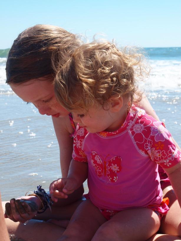 My girls enjoying the sand and sea!
